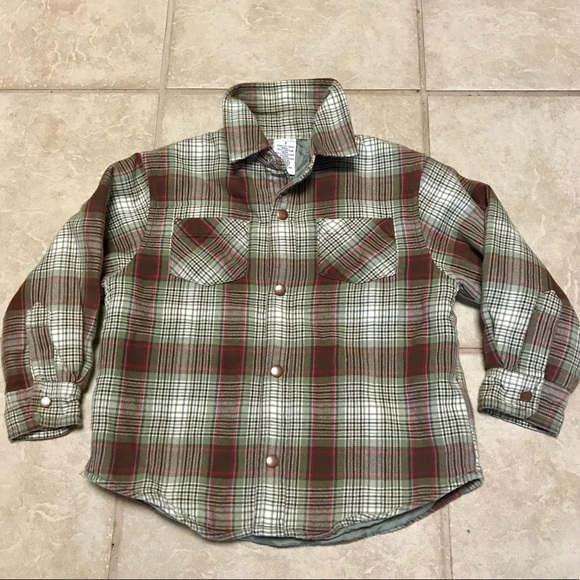 402588447 💲⬇️Toddlers Gymboree Flannel Quilted Shirt Jacket